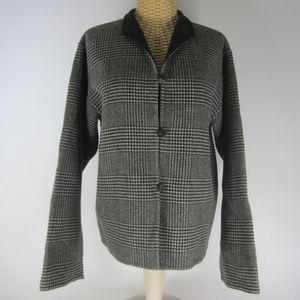 L.L. Bean Jackets & Coats - L.L. Bean Medium Black Houndstooth Wool Jacket
